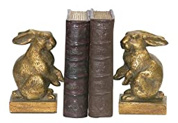 Sterling Home 4-83037 Pair of Bookends, Baby Rabbits, 6-1/2-Inch Tall