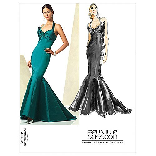 vogue-ladies-sewing-pattern-2931-fishtail-evening-dress-with-train