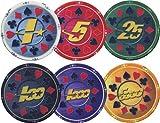 51S1GAI9A4L. SL160  Full Ceramic Pokerchips SUITS and STARS   Farbe: rot 5 (pro Stück)
