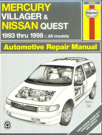 mercury-villager-and-nissan-quest-1993-1998-automotive-repair-manual-haynes-automotive-repair-manual