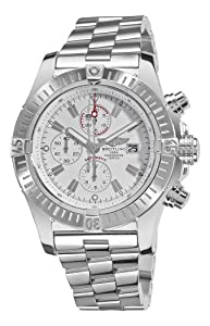 Breitling Men's A1337011/A660 Super Avenger White Chronograph Dial Watch from BRIT ARCH OF COUNTRY