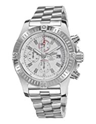 Breitling Men's A1337011/A660 Super Avenger New White Chronograph Dial Watch