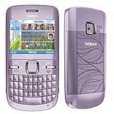 Nokia C3 Acacia (Purple) International Unlocked Phone No US Warranty