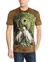 Arbre du Yin et du Yang- T.Shirts Adulte The Mountain