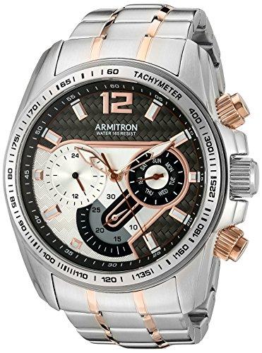 armitron-hommes-de-20-5149gytr-multifonction-cadran-deux-tons-montre-bracelet