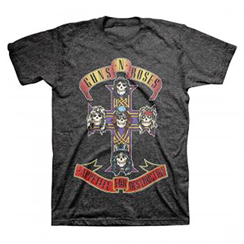 Men's Guns N Roses Appetite for Destruction 1987 Album Shirt Charcoal - S to XXL