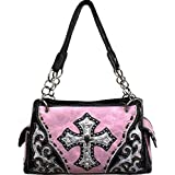 Light Pink Studded Cross Conceal and Carry Purse