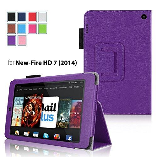 Amazon Kindle Fire HD 7 2014 Case Purple - Slim Folding Cover Case for Amazon Kindle Fire HD 7 Inch 2014 Tablet With Smart Cover Auto Wake Sleep (Ebay Pur compare prices)