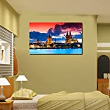 999Store Digitally Printed Modern City Art Unframed Large Wall Print Sticker Living Room Painting Like Painting... - B01BP46418