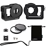 Luxebell C200 Aluminium Alloy Skeleton Thick Solid Protective Case Shell with 52mm Uv Filter for Gopro Hero 4 Black, Silver Camera - Wide Angle Mode Have No Vignetting