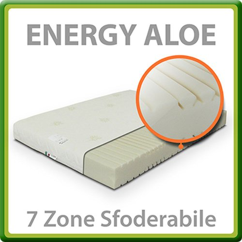 Energy Aloe Materasso Waterfoam 7 Zone Matrimoniale Francese 140x200 cm