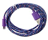 Ultimate Addons 2M 3M Long 8 Pin Strong Braided USB Cable for Apple IPhone 5 5c 5s, iPod Touch 5G and Nano 7, IOS7 compatible (3 Metre, PURPLE)