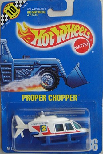 HOT WHEELS 1990 BLUE CARD #86 PROPER CHOPPER DIE-CAST