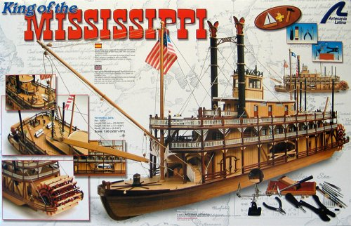 King of the Mississippi + Tools 1:80-Scale Wooden Ship Kit