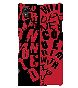 SONY XPERIA Z1 TEXT Back Cover by PRINTSWAG