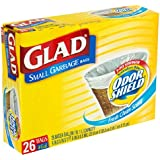 Glad Small Garbage Bags with Odor Shield, 4 Gallon 26 bags