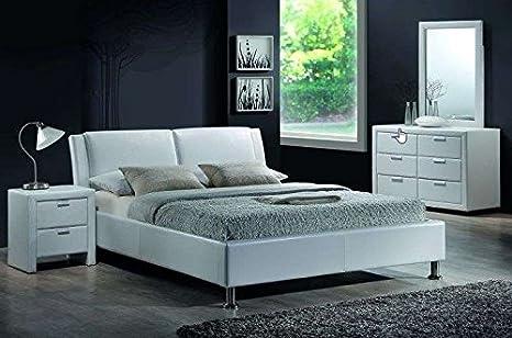 Ehebett mit Lattenrost Bettgestell Doppelbett Bett Schlafzimmerbett MITO NEU 160cm x 200cm