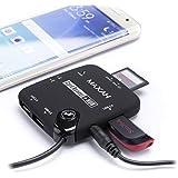 MAXAH® 7-en-1 Lecteur de carte SD USB HUB OTG kit d'adaptateur de connection pour Samsung Galaxy S3 /S4 /S5 /Note 2 /Note 3 /Note 4 /ASUS TF201 Acer A500 ou d'autres dispositifs avec 4 ports---cyber monday!
