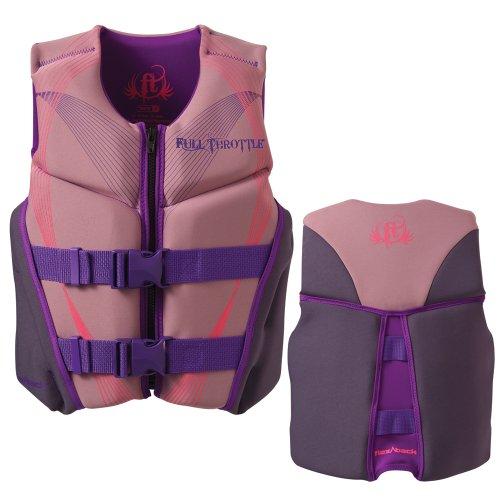 Brand New Full Throttle - Full Throttle Neoprene Flex-Back Vest - Youth 50-90lbs - Pink/Grey