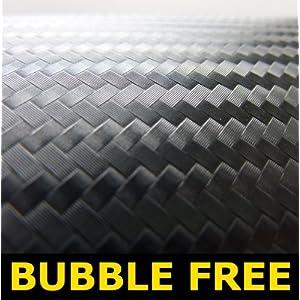 480mm x 380mm 3D black carbon fibre Vinyl bubble Free Vinyl Car Van Bike Self Adhesive 3d Textured Wrap Wrapping 380 x 480 Laptop Wrap