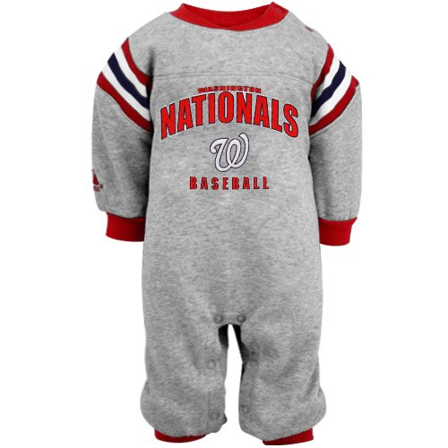 MLB Majestic Washington Nationals Infant Insert Coverall - Ash (12 Months) at Amazon.com
