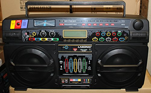 Lasonic i 931bt q bm portable ghetto blaster boom box stereo with built in bl - Lasonic ghetto blaster i931x ...