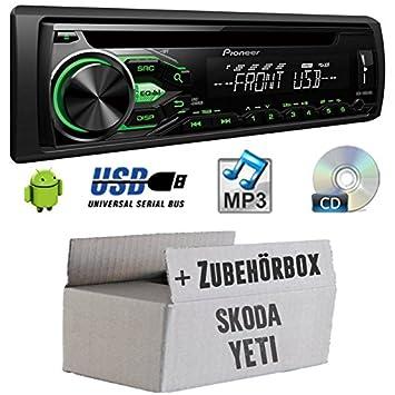 Skoda Yeti-Pioneer deh1800ubg-Kit de montage autoradio CD/MP3/USB -