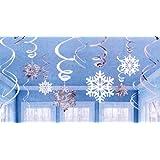 Amscan Swirls Snowflake Value Pack