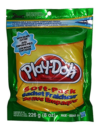 Play-doh-resealable -Soft Pack Green- W/ Shape Cutter - 1