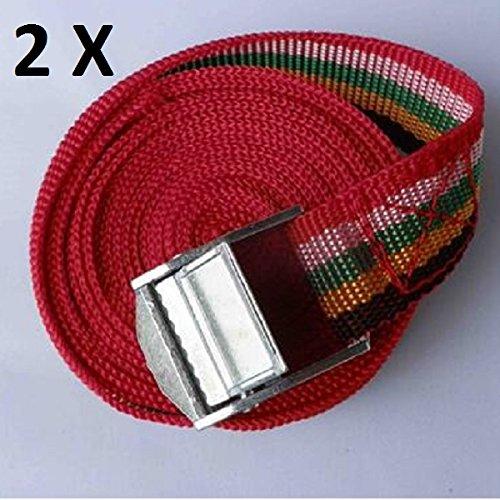 2 x Spanngurt, Klemmgurt Satz 5,00m x 25mm Zurrgurt Gepäckgurt Haltegurt 500cm