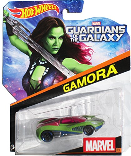 Hot Wheels, Marvel Die-Cast Car, Gamora #13, 1:64 Scale