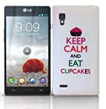 Keep Calm And Eat Cupcakes Design Hard Skin Case For LG P760 Optimus L9