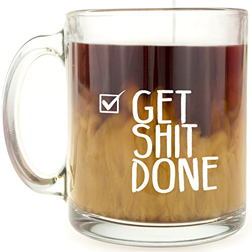 Get Shit Done - Glass Coffee Mug (Usb Microwave compare prices)