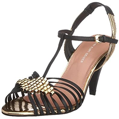 KG by Kurt Geiger Women's Helix Heeled Sandal Black 1160505109 3 UK