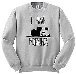 I Hate Mornings Crewneck Sweatshirt Unisex