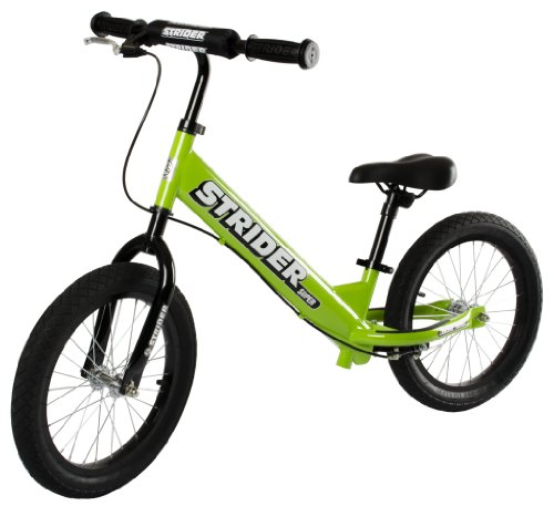 Best Kids Balance Bike for Sale - Green STRIDER SUPER 16 SS-1 Bike, No-Pedal Boys and Girls Balance Bike For Ages 6 To 10 Years Old