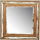 Thar Handicrafts Bangalore Wooden Mirror Frame With Mirror And Distressed Finish