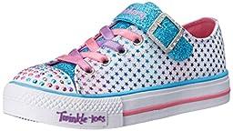 Skechers Kids Shuffles Mysticals Light-Up Sneaker (Toddler),White/Multi,7 M US Toddler