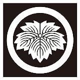 貼り紋シールタイプ6枚1組 黒地着物・羽織用 (丸に鬼蔦) 女性用 (クロネコDM便発送)