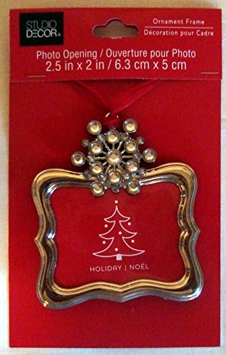Picture Frame Blinged Snowflake Christmas Ornament Photo Metal (Snowflake Picture Frame compare prices)