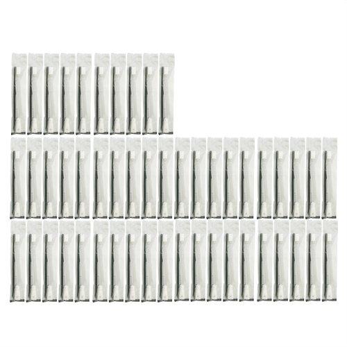 歯ブラシセット チューブ歯磨き粉 付き 個包装タイプ ブラック 50本