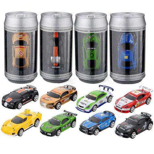 Mini Coke Can Speed RC Radio Remote Controlled Micro Racing Car Toys Kids Game - 1