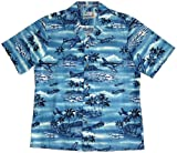 Aviation Print - Men's Island Airplanes World War II Hawaiian Aloha Cotton Shirt