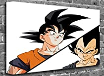 "Dragon Ball Z - Zoku vs Vegeta Render Animated Comic Canvas Art Canvas Print Picture print Size: (36"" x 24"")"