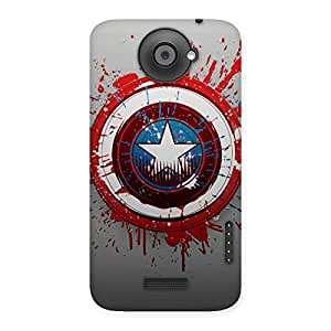 Cute Premier Blood Round Multicolor Back Case Cover for HTC One X