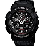 G-Shock GA-100MC-1ACR Nylon Strap Classic Series Mens Quality Watch - Black / One Size