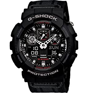 Casio GA100MC-1A - Reloj de pulsera hombre, nailon