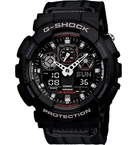 G-Shock GA-100MC Cloth Band Classic Series Men's Luxury Watch - Black/Grey / One Size