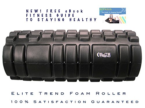 Find Bargain Foam Roller By Elite Trend, Elite Performance - Muscle Roller, Trigger Point Foam Rolle...
