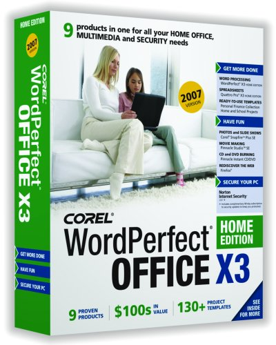 Wordperfect Office X3 Home Edition 2007 [Old Version]